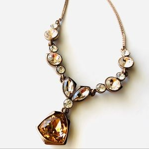 Givenchy Rose Gold-Tone Crystal Necklace
